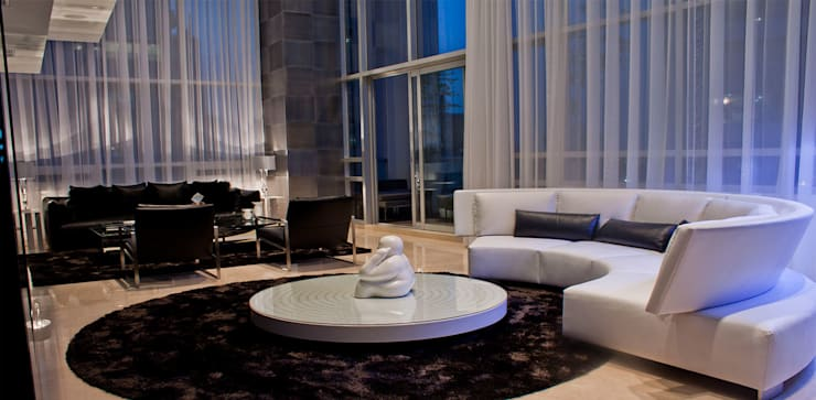 Torre Aura Altitud: Salas de estilo  por STUDIO ALMEIDA DESIGN