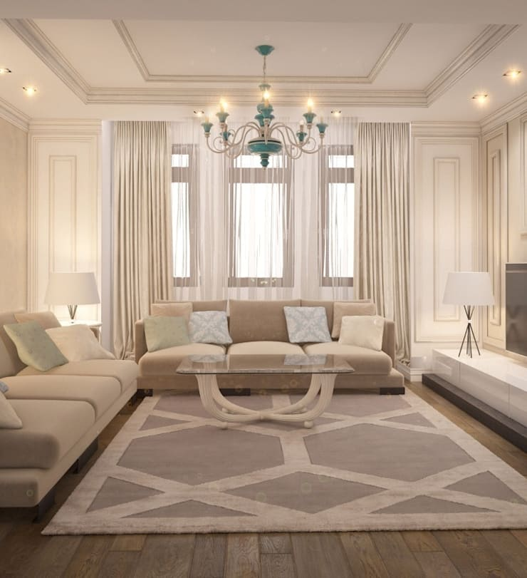 Private residence in Ekaterinburg: Гостиная в . Автор – E_interior