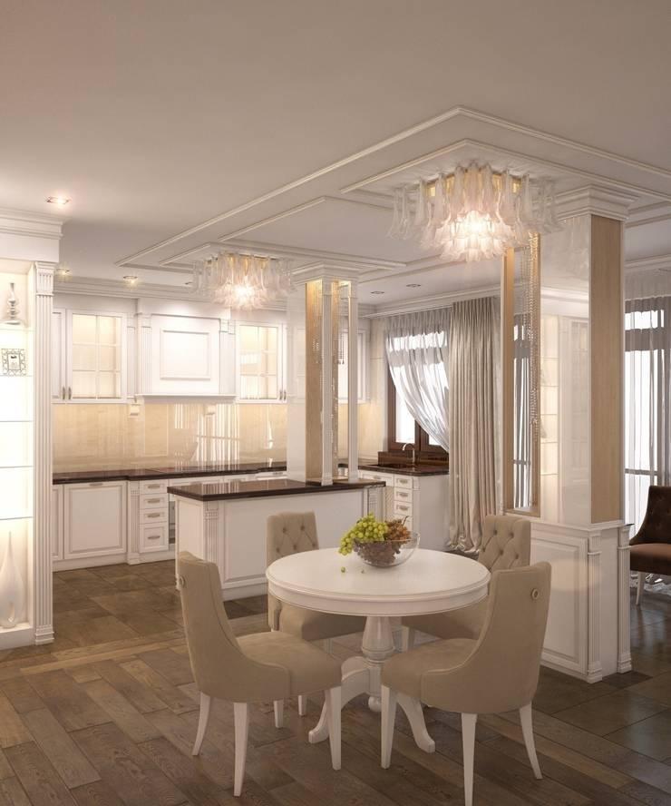 Private residence in Ekaterinburg: Кухни в . Автор – E_interior