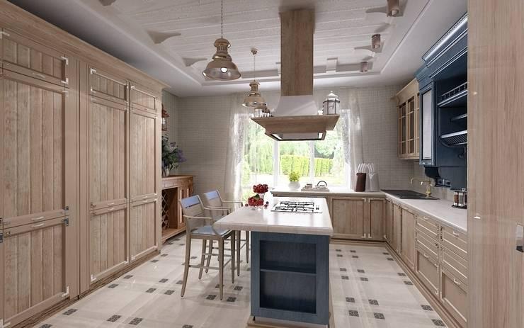Уютный домик: Кухни в . Автор – Студия дизайна Натали Хованской