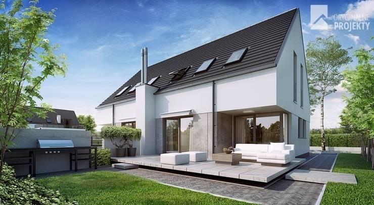 Projekt domu duplex: styl , w kategorii Domy zaprojektowany przez Oryginalneprojekty s.c.