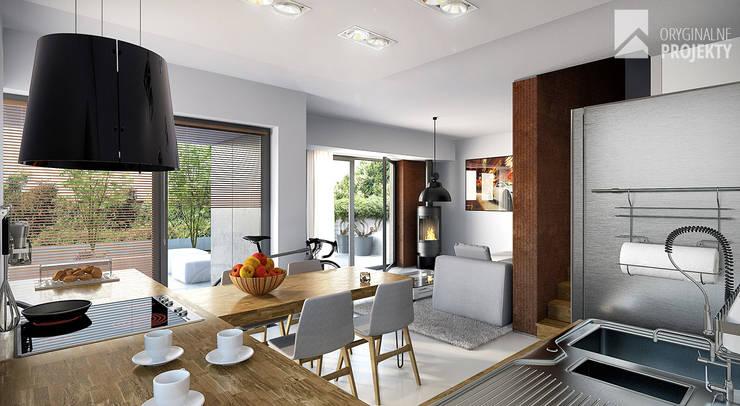 Projekt domu duplex - wnętrza: styl , w kategorii Salon zaprojektowany przez Oryginalneprojekty s.c.