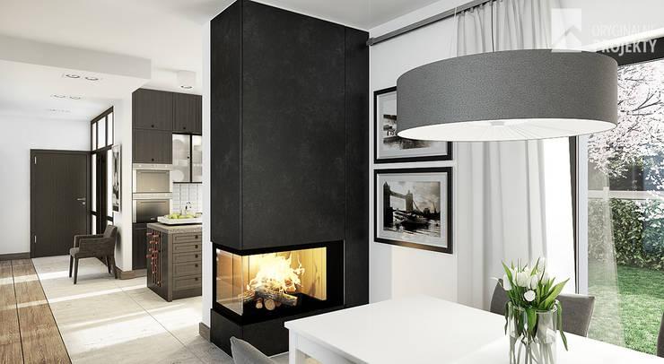 Projekt domu Ignotus - wnętrza.: styl , w kategorii Jadalnia zaprojektowany przez Oryginalneprojekty s.c.