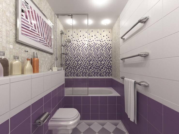 Современная семейная квартира: Ванные комнаты в . Автор – OK Interior Design