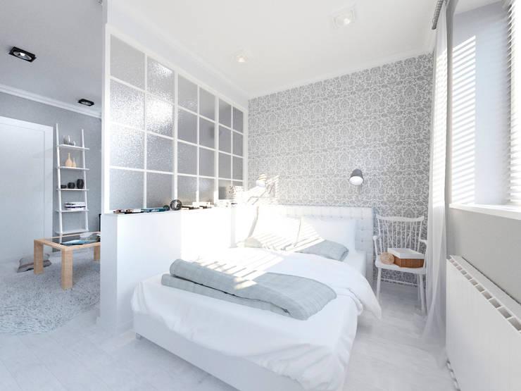 Скандинавия: визуализация современной квартиры : Спальни в . Автор – OK Interior Design