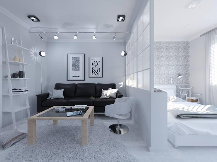 Скандинавия: визуализация современной квартиры : Гостиная в . Автор – OK Interior Design