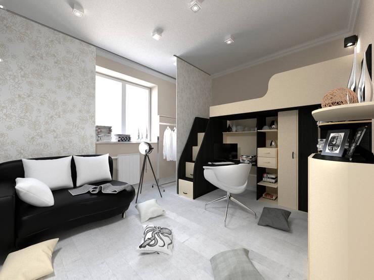 Скандинавия: визуализация современной квартиры : Детские комнаты в . Автор – OK Interior Design