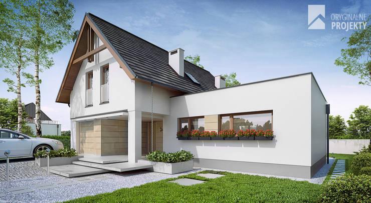 Projekt domu Sana: styl , w kategorii Domy zaprojektowany przez Oryginalneprojekty s.c.