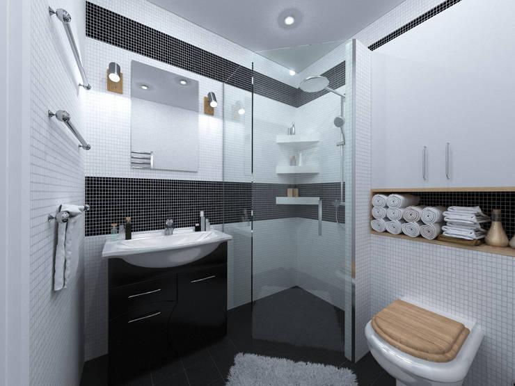 Скандинавия: визуализация современной квартиры : Ванные комнаты в . Автор – OK Interior Design