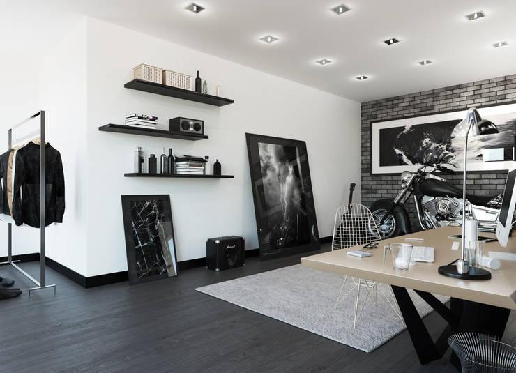 Мужская обитель, квартира-студия: Гостиная в . Автор – OK Interior Design