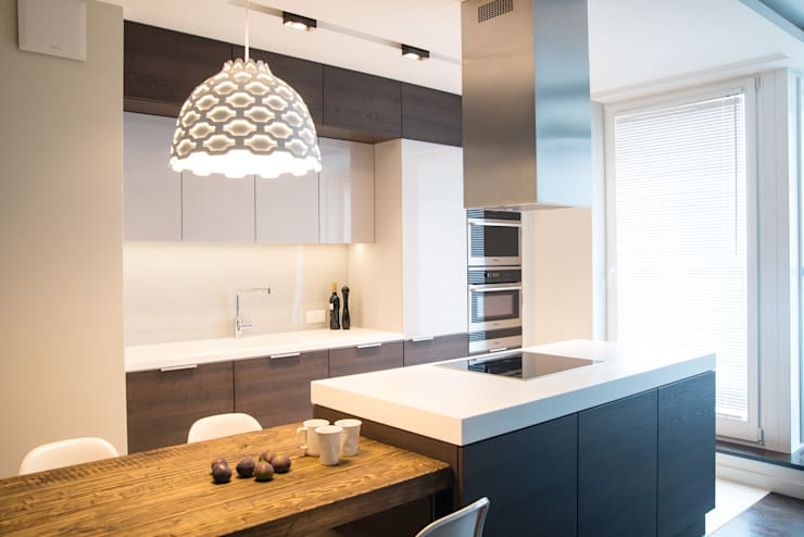 Apartament w Soho-Factory Warszawa: styl , w kategorii Kuchnia zaprojektowany przez I Home Studio Barbara Godawska