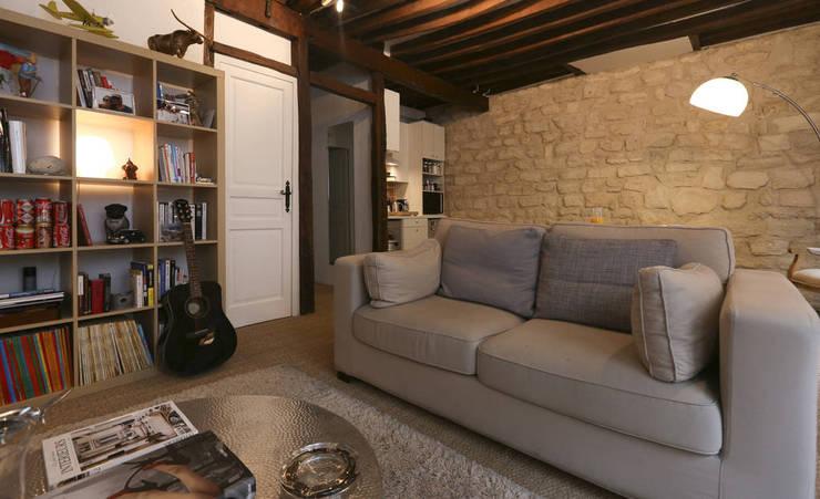 Soggiorno in stile in stile Moderno di Xavier Lemoine Architecture d'Intérieur