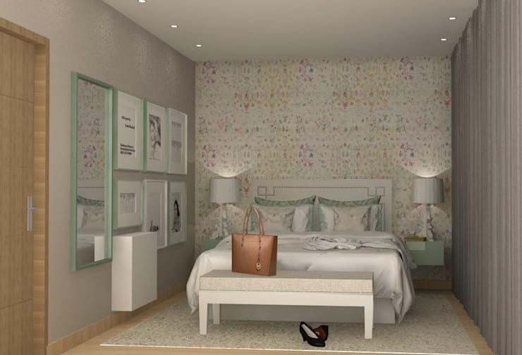 CASA BENFICA: Quartos  por Santiago | Interior Design Studio