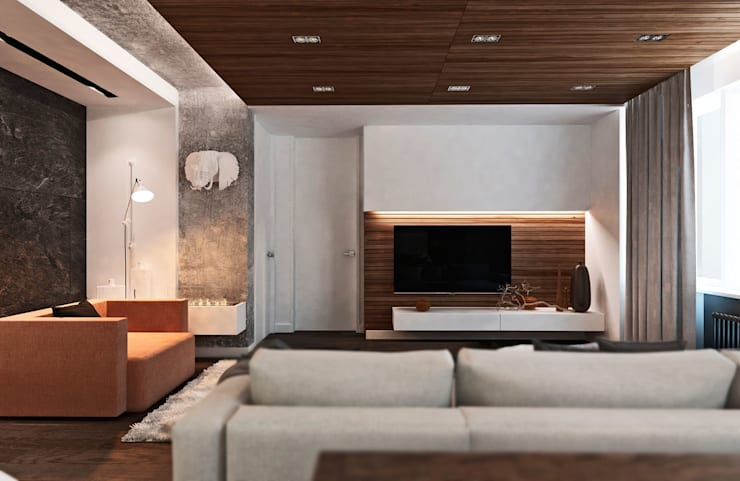 Квартира в ЖК <q>Оазис</q>: Гостиная в . Автор – Студия архитектуры и дизайна artugol