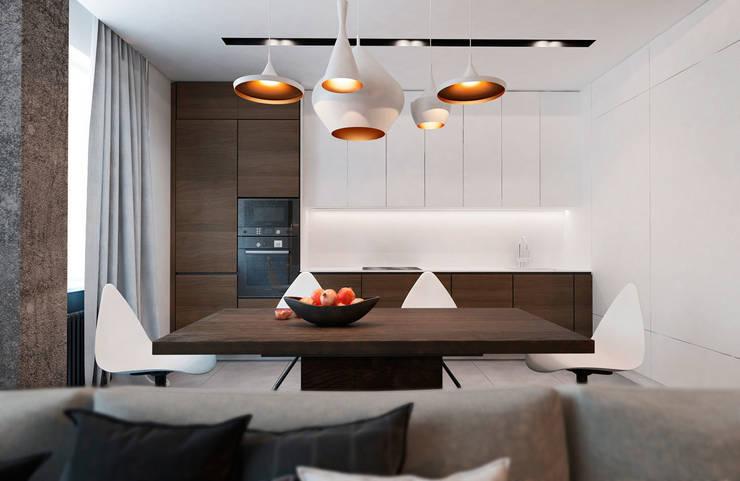 Квартира в ЖК <q>Оазис</q>: Кухни в . Автор – Студия архитектуры и дизайна artugol