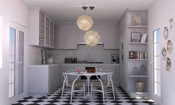 COZINHA BELOURA: Cozinhas  por Santiago | Interior Design Studio