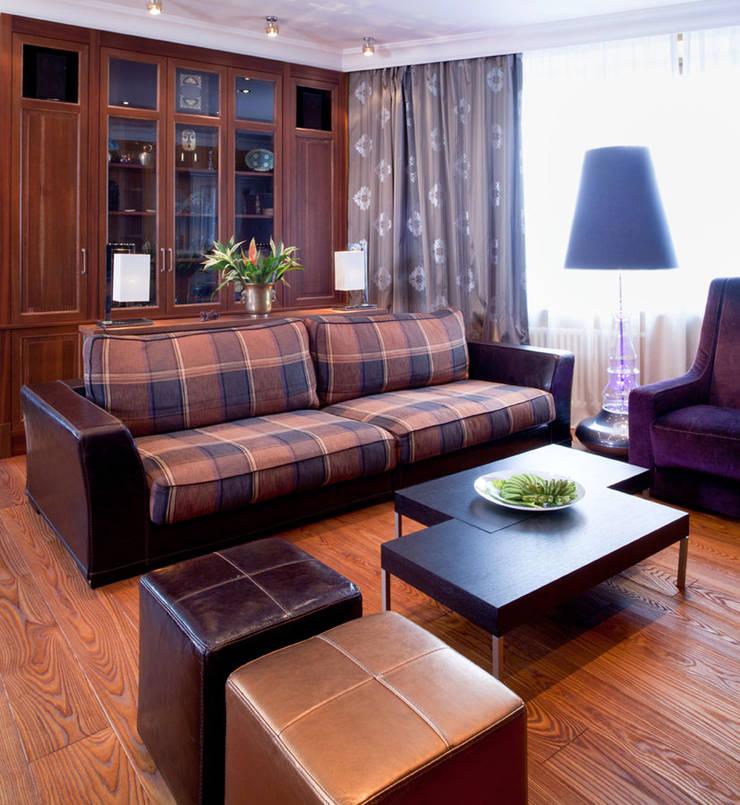 Квартира на Ленинском проспекте: Гостиная в . Автор – Irina Tatarnikova