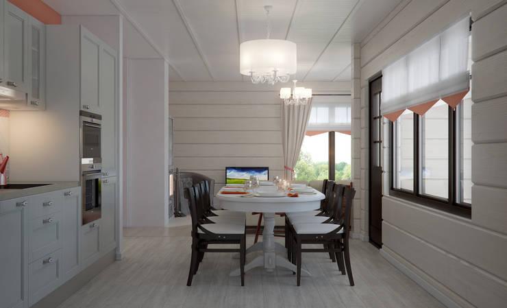 Загородный дом: Столовые комнаты в . Автор – Center of interior design
