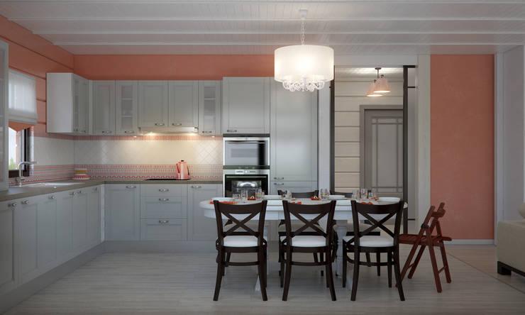 Загородный дом: Кухни в . Автор – Center of interior design