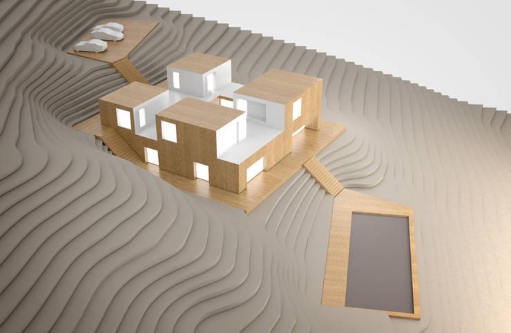JLC House : Casas  por ADAPT Arquitectos