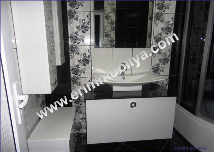 Erim Mobilya  – Banyo Dolabı:  tarz Banyo, Modern İşlenmiş Ahşap Şeffaf