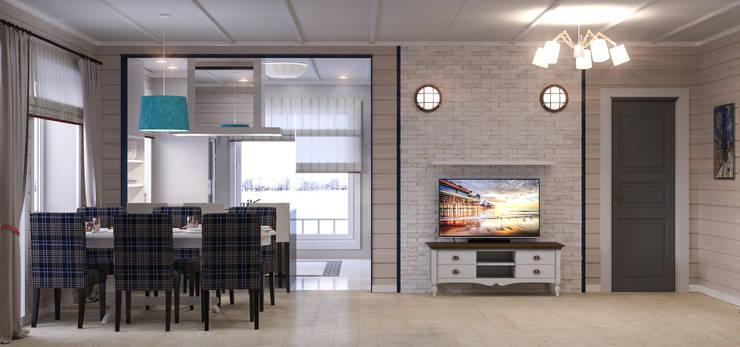 Загородный дом: Гостиная в . Автор – Center of interior design