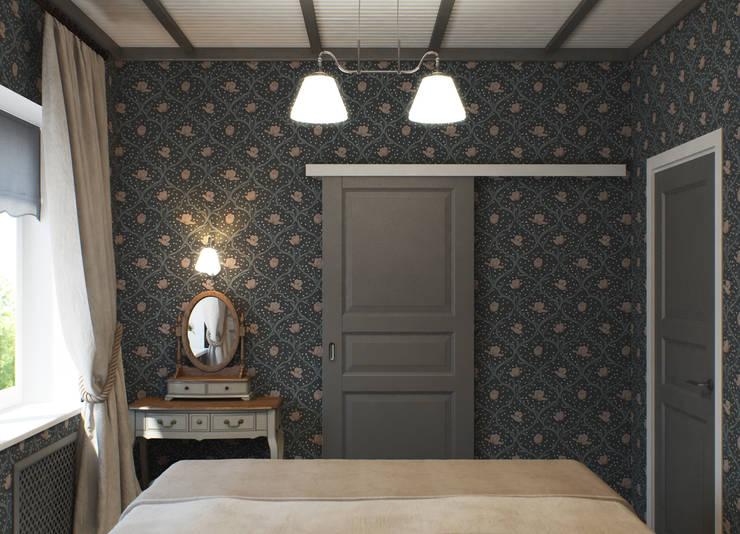 Загородный дом: Спальни в . Автор – Center of interior design