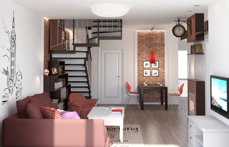 Блок-секция: Гостиная в . Автор – Center of interior design,
