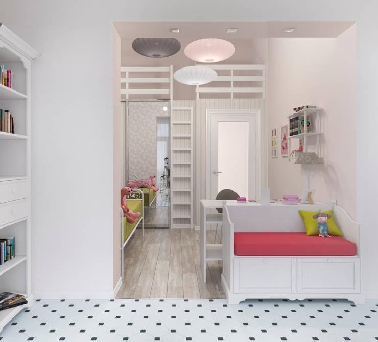 Блок-секция: Детские комнаты в . Автор – Center of interior design
