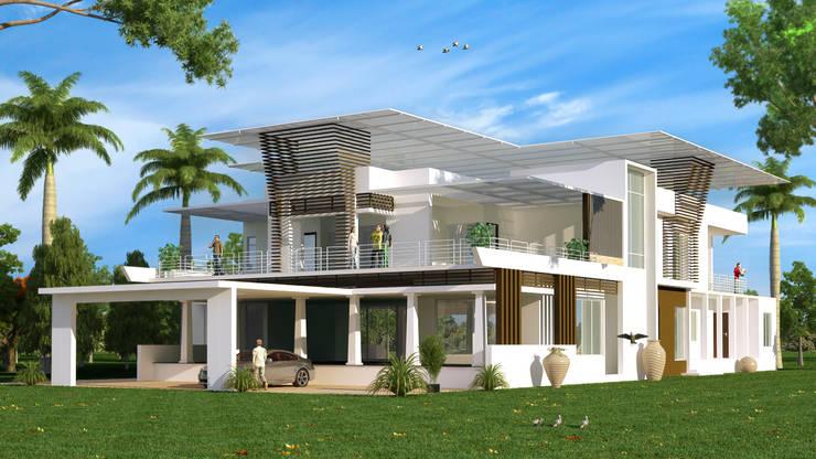 recent works: modern Houses by Freelance  3D visualiser