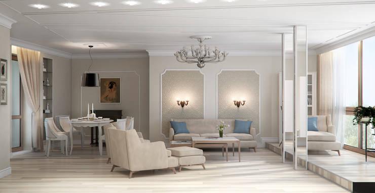 Роскошная квартира в черте города: Гостиная в . Автор – Center of interior design