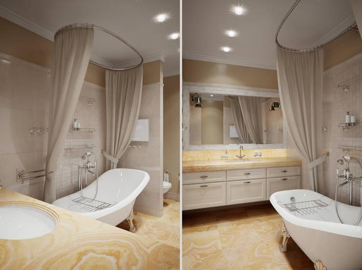 Роскошная квартира в черте города: Ванные комнаты в . Автор – Center of interior design