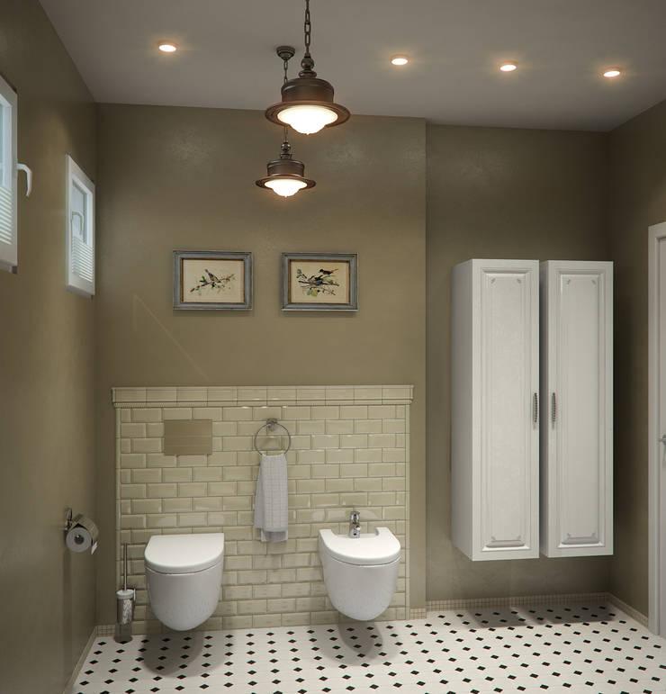Загородный дом: Ванные комнаты в . Автор – Center of interior design