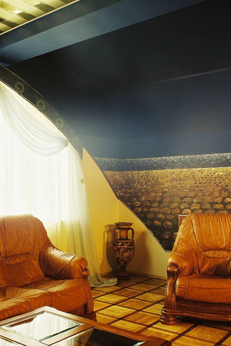 Частный дом 3: Гостиная в . Автор – Архитектор Владимир Калашников