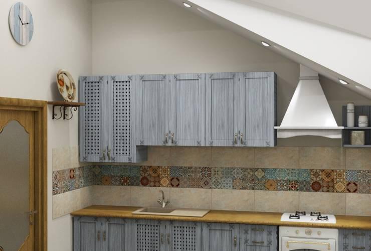 Винтаж на мансардном этаже: Кухни в . Автор – Студия дизайна и декора Светланы Фрунзе