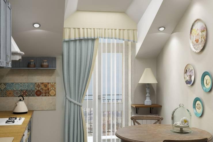 Винтаж на мансардном этаже: Гостиная в . Автор – Студия дизайна и декора Светланы Фрунзе