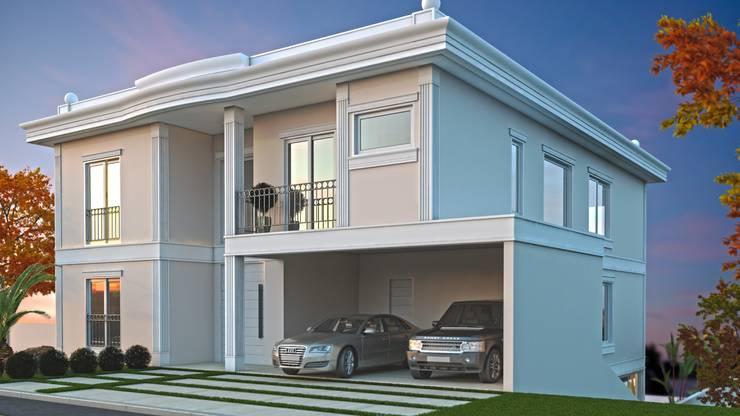 Fachada frontal: Casas  por Eliana Berardo Arquitetura e Construção