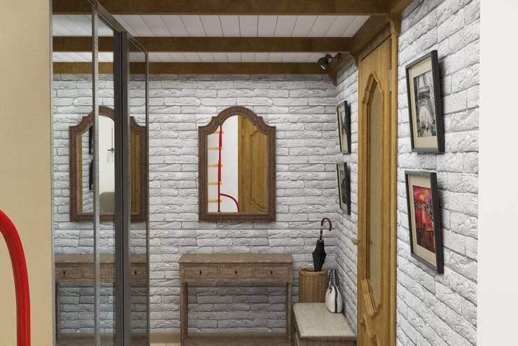 Винтаж на мансардном этаже: Коридор и прихожая в . Автор – Студия дизайна и декора Светланы Фрунзе