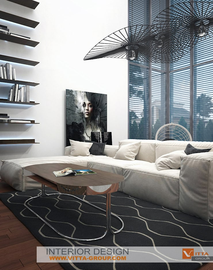 Dream house: living room: Гостиная в . Автор – VITTA-GROUP