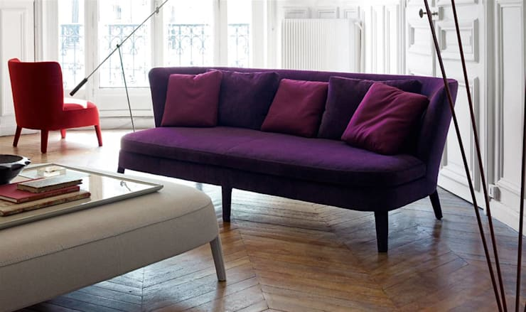 Febo Sofa by B&B Italia Maxalto Collection:  Living room by Campbell Watson