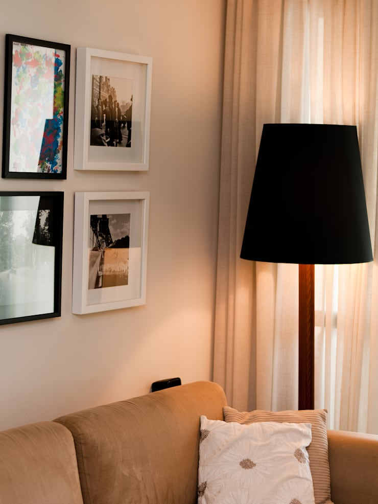 Apto – Parque São Jorge: Sala de estar  por tcarvalho,