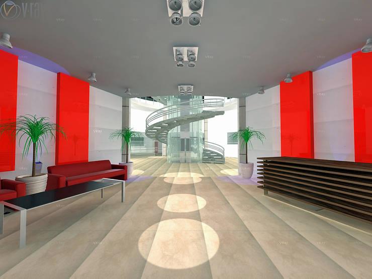 Modern study/office by ARQUITECTO - JESUS A. MARTINEZ LARA Modern