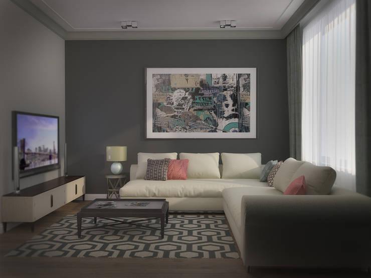 3х комнатная квартира пр.Просвещения: Гостиная в . Автор – marusia-design