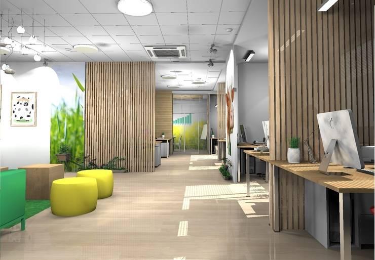 """офис для компании """"Молочная культура"""": Офисные помещения в . Автор – marusia-design"""