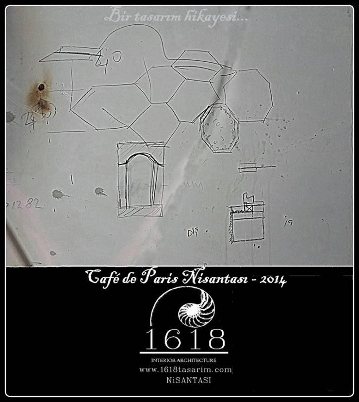 1618 DESIGN & INTERIOR ARCHITECTURE – Cafe De Paris – Nişantaşı:  tarz İç Dekorasyon