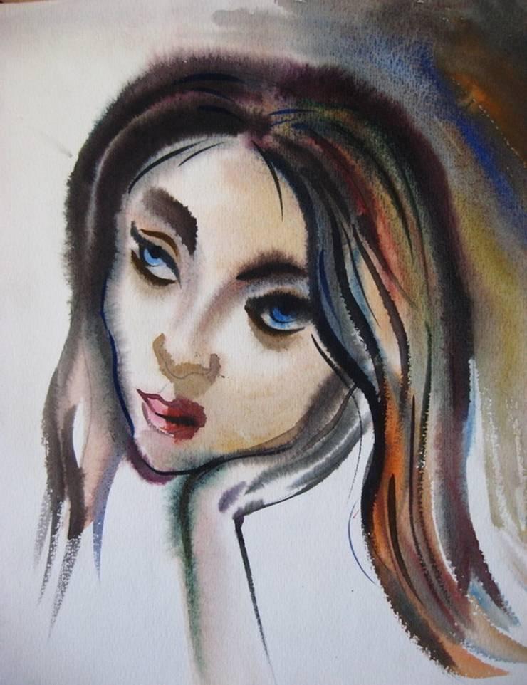 """Бумага. Акварель. """"Портрет"""": Произведения искусства в . Автор – KRAUKLIT VALERII"""