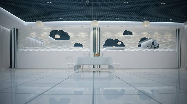 Банкет-холл <q>Облака</q>: Бары и клубы в . Автор – Freak Fabrique, Минимализм