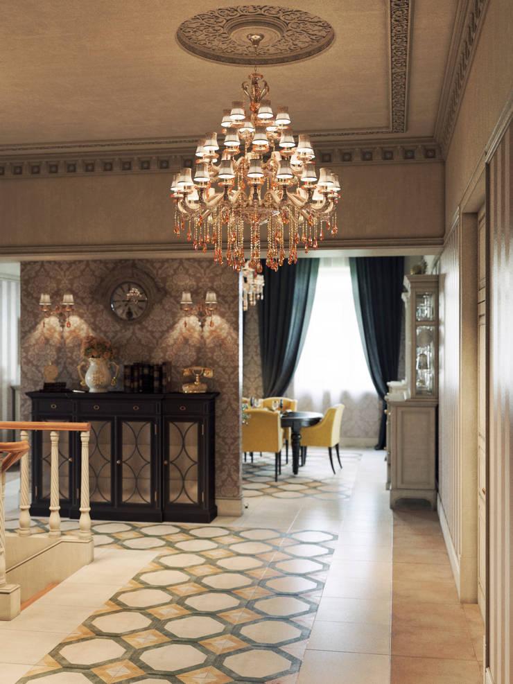 Corridor & hallway by Дизайнстудия I M E N N O,