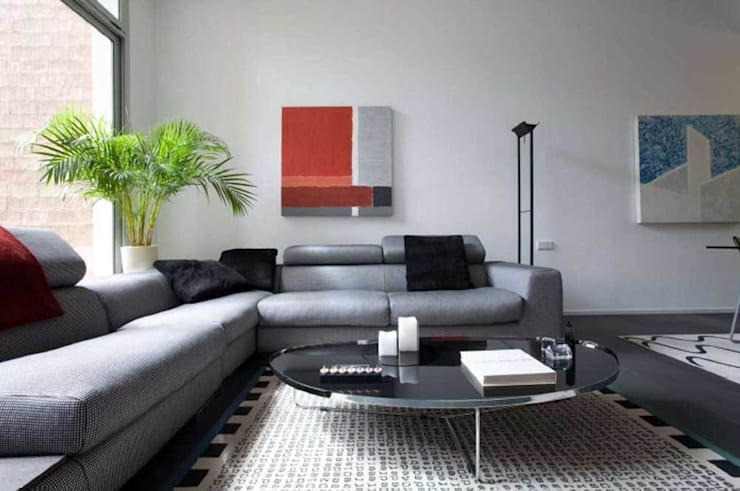 Salón: Salones de estilo moderno de SOLER-MORATO ARQUITECTES SLP