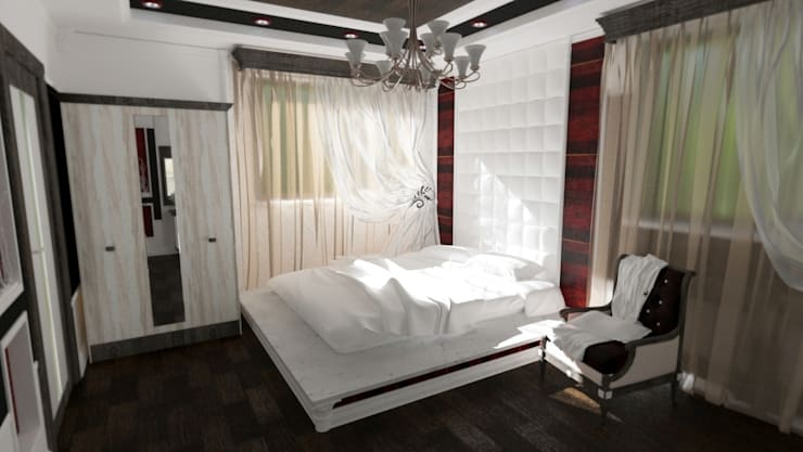 Зона сна: Спальни в . Автор – Nada-Design Студия дизайна.,